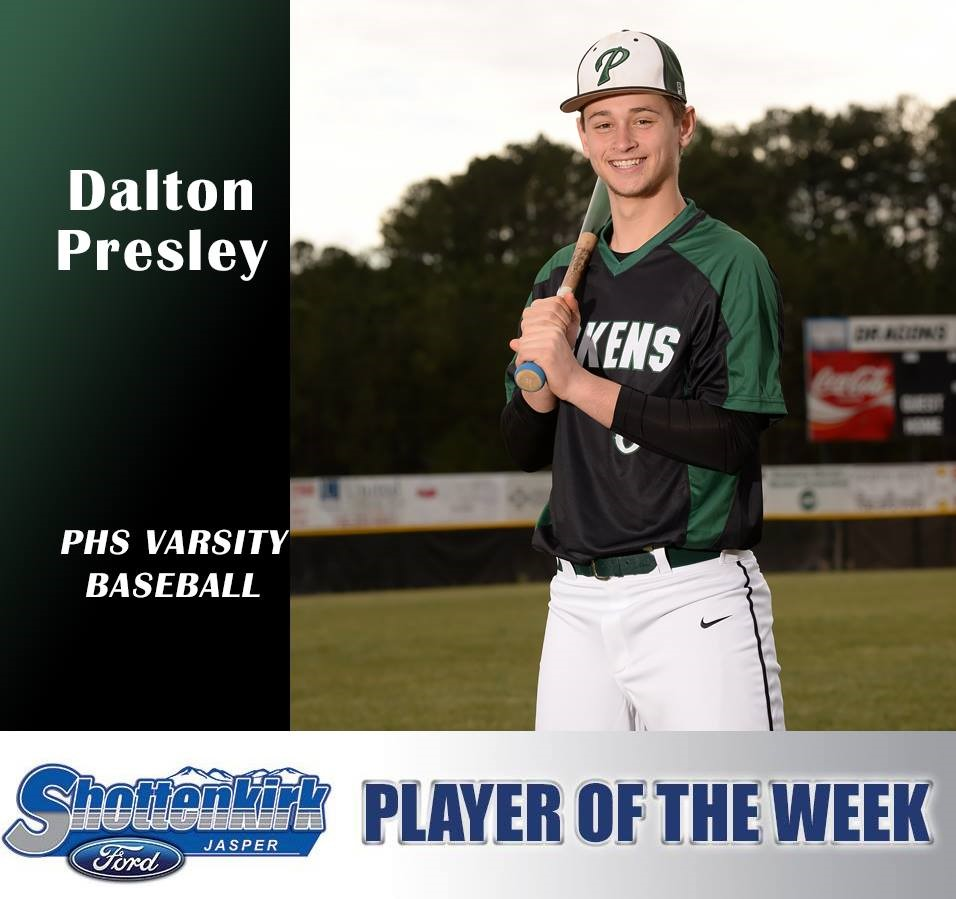 Shottenkirk Athlete of the Week - Dalton Presley